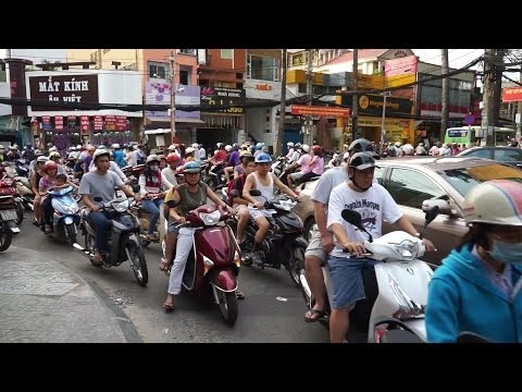 Rushhour Traffic Vietnam Ho Chi Minh City