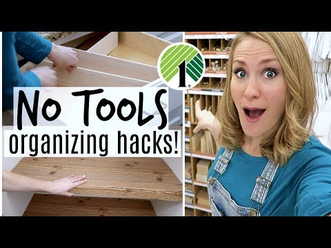 $1 Custom Organization Hacks you need...without tools!