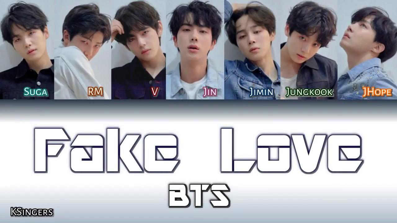 Fake love lyrics bts english subtitles