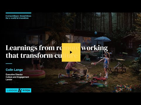 Extraordinary Webinar - Learnings from remote working  that transform culture