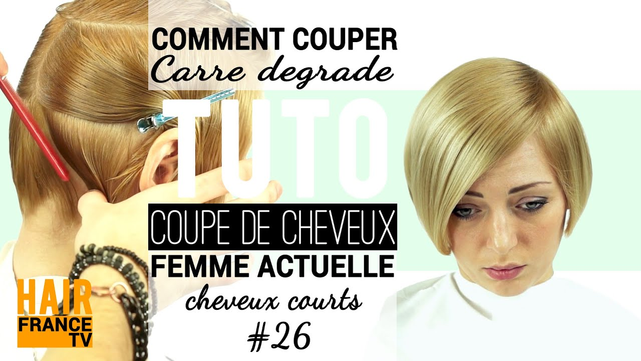 Comment couper Carré degrade HAIR France TV - YouTube