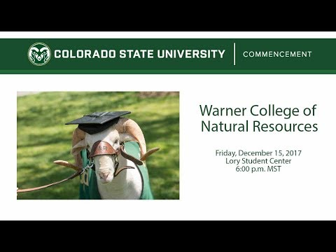 Warner College of Natural Resources Commencement