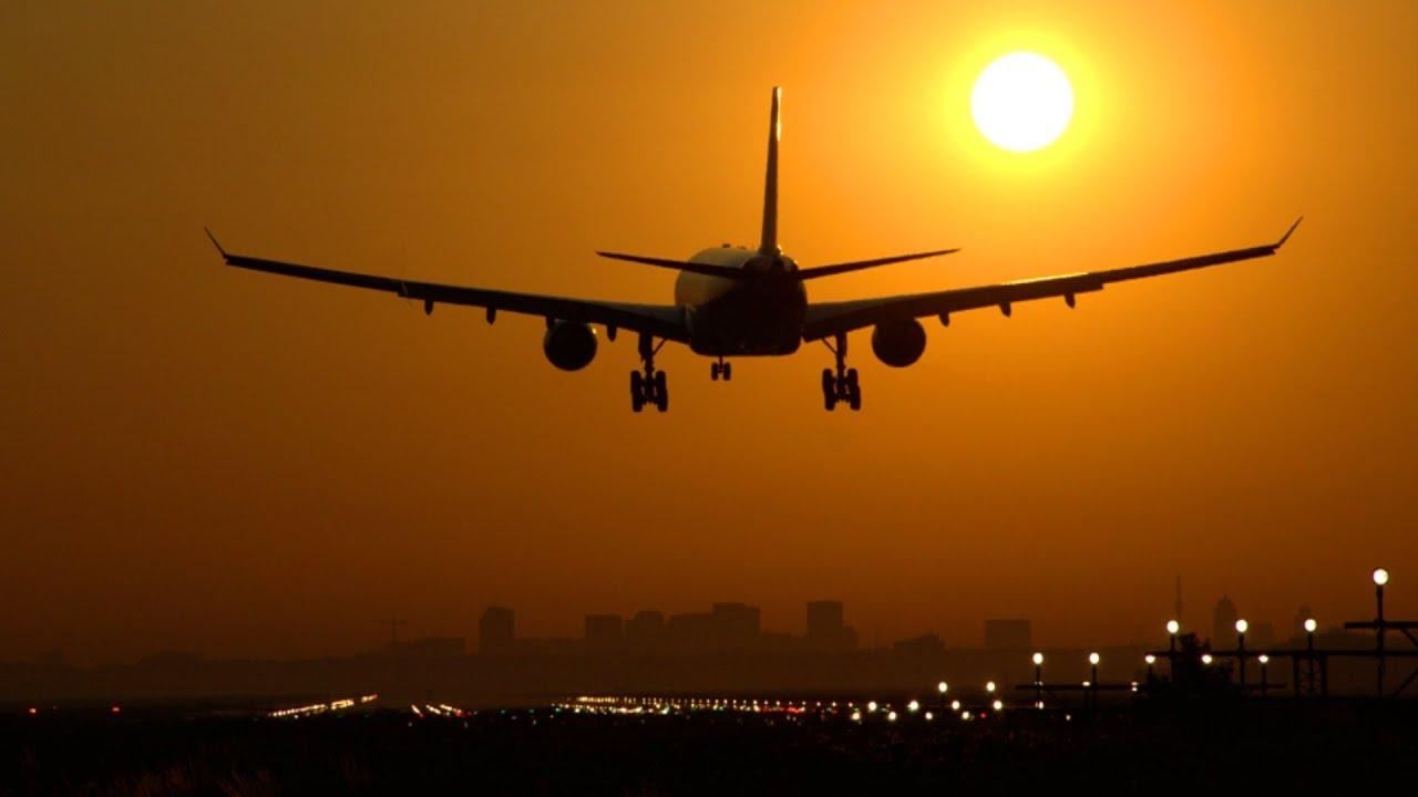 Amazing Sunrise Landings Amsterdam Schiphol Airport Hd