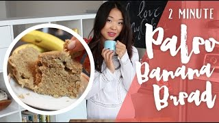 2 Minute Paleo Banana Bread - In The Microwave!
