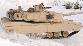 M1A1 Tanks Drifting in Snow