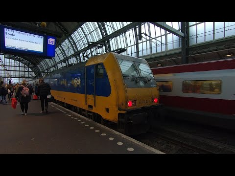 Full Train Journey: NS Intercity Direct Amsterdam Centraal to Schiphol Airport