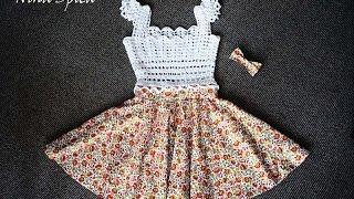 Комбинированное платье крючком (часть 2 из 2)/ Crochet and sew dress
