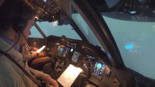 V1 Engine Fail + 1 Eng GA - Dash 8 Q400 Bombardier