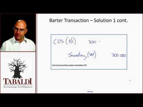 IAS18- Barter transaction class example 1