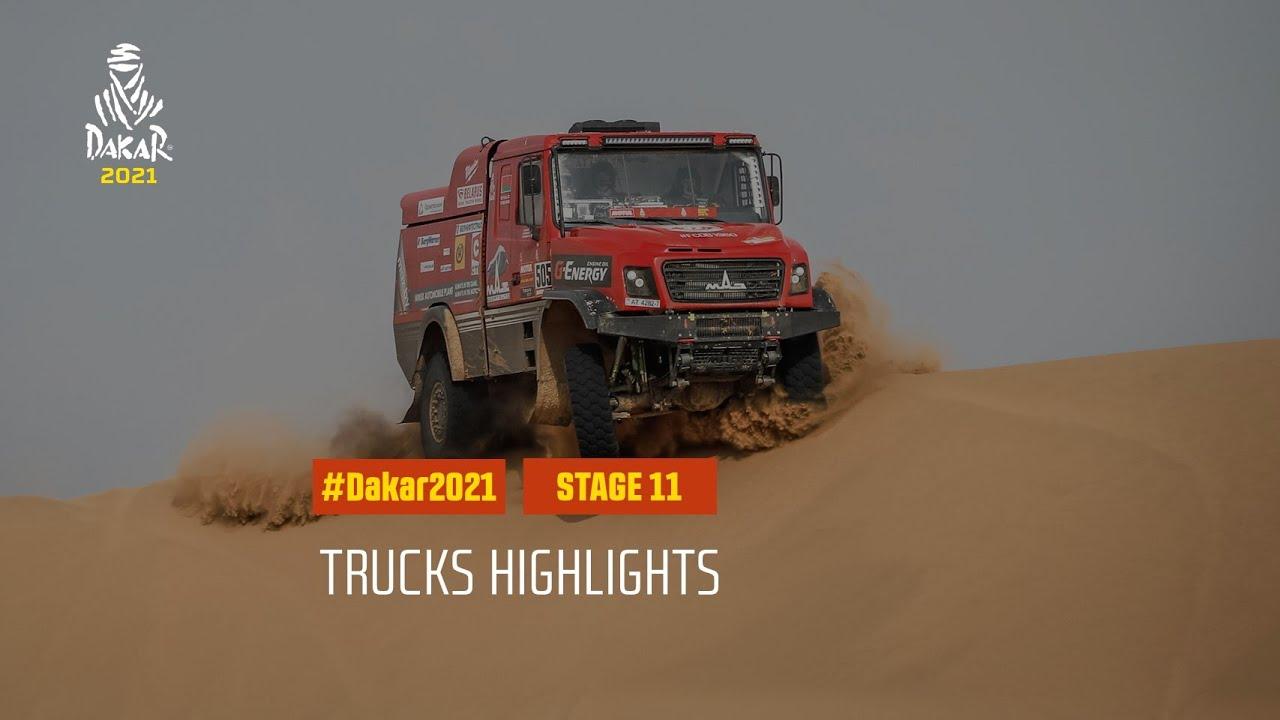 #DAKAR2021 - Stage 11 - AlUla / Yanbu - Truck Highlights - скачать с YouTube бесплатно