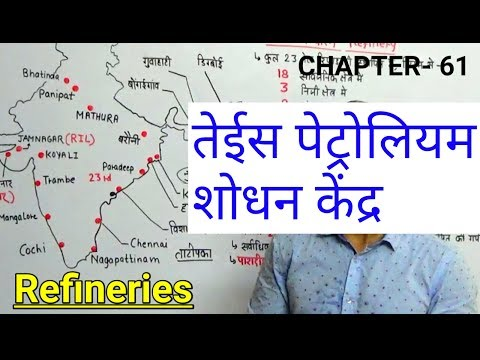 REFINERIES IN INDIA | INDIAN GEOGRAPHY