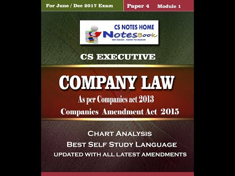 cs video notes in Hindi Company and LLP difference -  company act 2013