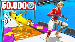 50, 0 VBucks KWEBBELKOP vs SLOGOMAN Deathrun! (Desafio criativo do Fortnite)