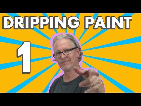 How to Paint Abstract Art on Canvas with Acrylics - Drip Technique 1