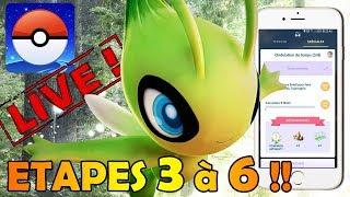 suite de la quete celebi en live pokemon go