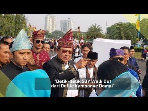 Detik-detik SBY Walk Out dari Defile Kampanye Damai