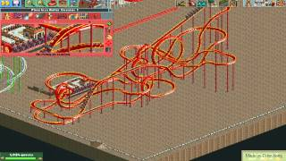 RollerCoaster Tycoon 2 self-made roller coaster download - 3 (floorless)