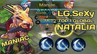 LG.SeXy TOP GLOBAL 1 NATALIA - SEKALI HIT LAWAN LANGSUNG KELAR - MOBILE LEGENDS