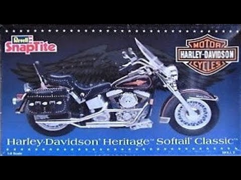 How to Build the Harley-Davidson Heritage Softail Classic 1:8 Scale Revell Kit 7302