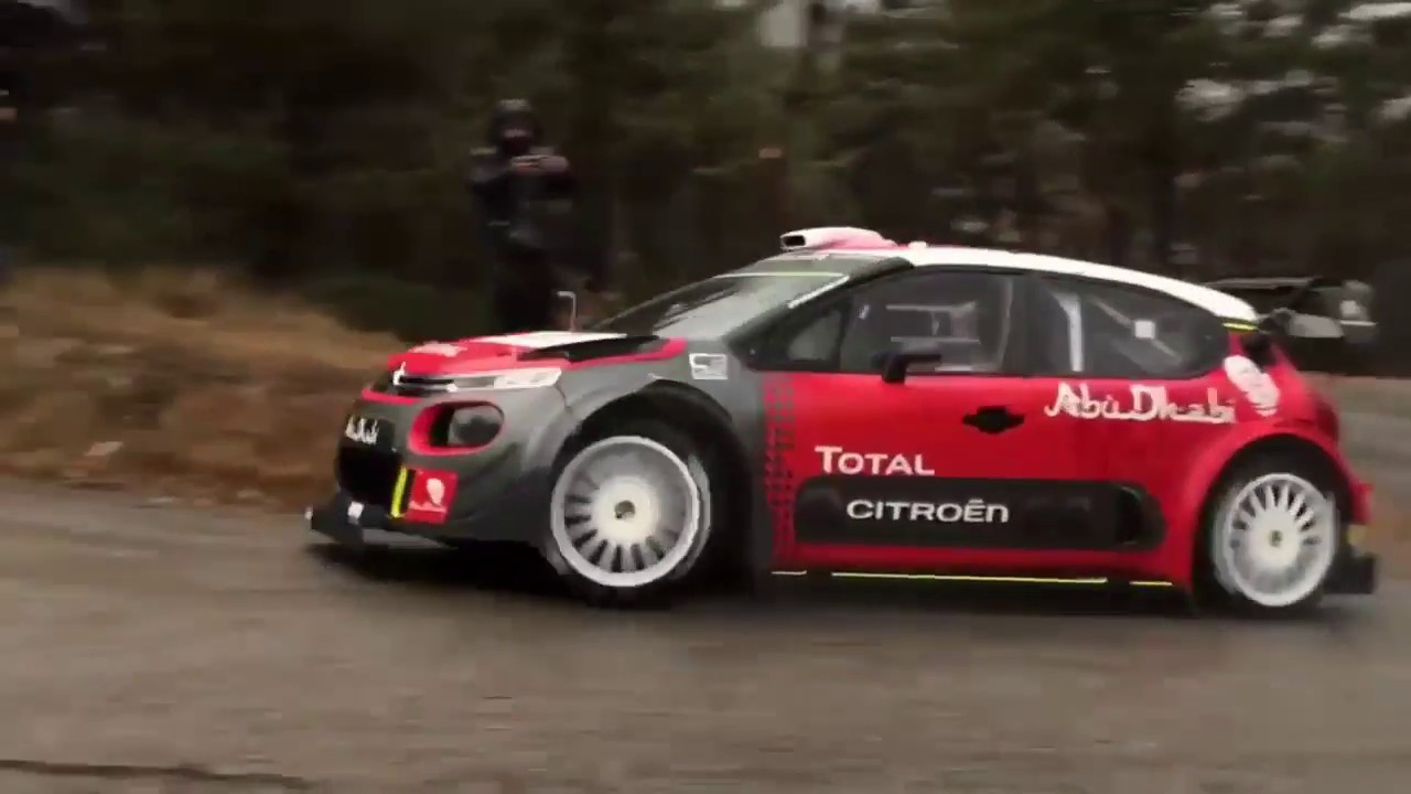 test kris meeke rallye monte carlo 2018 citro n c3 wrc youtube. Black Bedroom Furniture Sets. Home Design Ideas