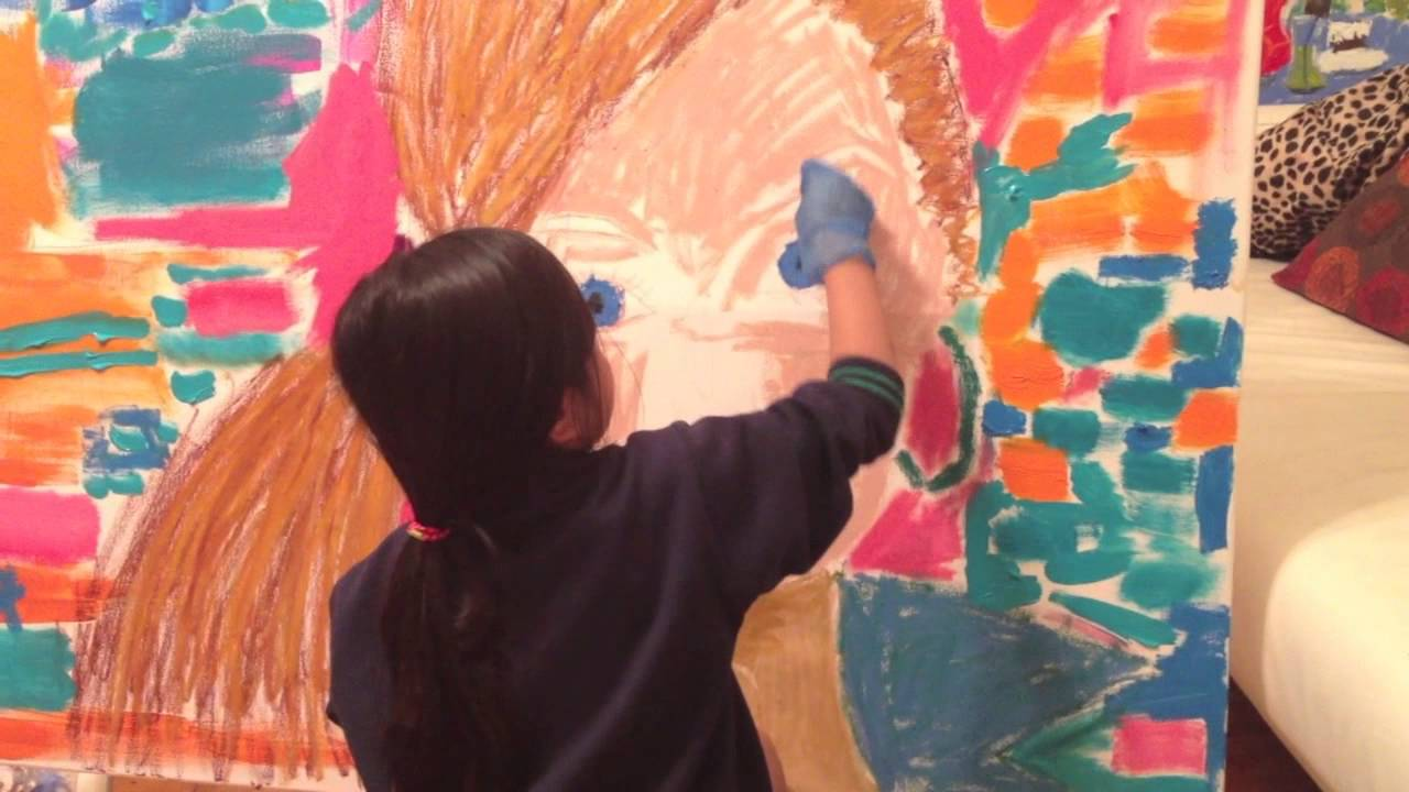7 year old artist Andy Bonzon - Pop Art painting of ...