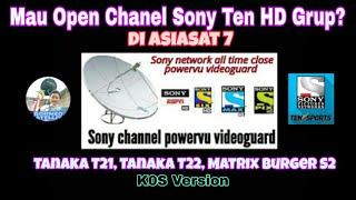 Cara Open Group Sony Ten di Asiasat 7 di Tanaka & Matrix Burger Versi K0S MP3