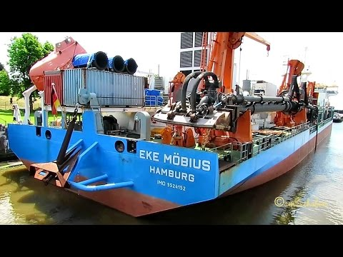 trailing suction hopper dredge EKE MÖBIUS DGAW IMO 9524152 Emden sealock Baggerschiff