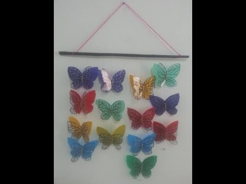 Diy Crafts Home Decor How To Make Handmade Butterflies With Plastic Sheets Tutorial