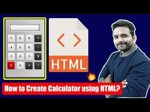 🔥🔥🔥How To Create Calculator Using HTML? HTML Tutorial For Beginner With Nikhil Sharma