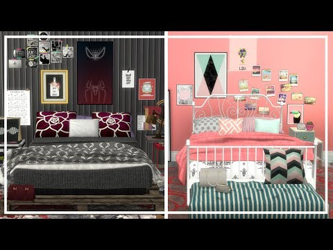 Opposite Twins Bedroom Sims 4 Cc List Room Build Youtube
