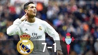 Download Real Madrid vs Celta Vigo 7-1 - All Goals & Extended Highlights - La Liga 05/03/2016 HD Mp3 and Videos