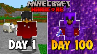 I survived 100 days in the Hardcore Minecraft caves and cliffs update and here's what happend...