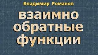 ВЗАИМНО ОБРАТНЫЕ ФУНКЦИИ 10 11 класс математика