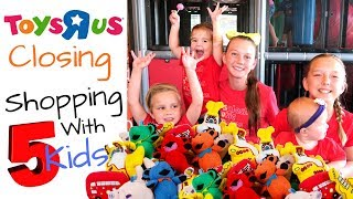 Toys R Us Closing Sale Shopping With 5 KIDS!