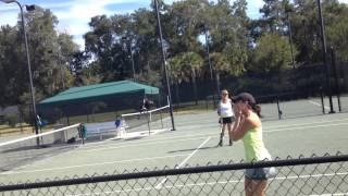 Military Son returns from Afghanistan and surprises Mom at tennis match