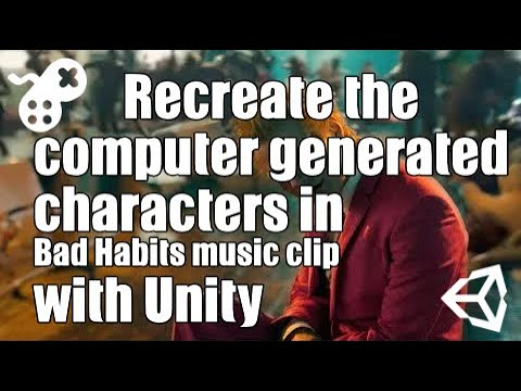 Learn how to recreate the computer generated characters in Ed Sheeran's Bad Habits using Unity3d