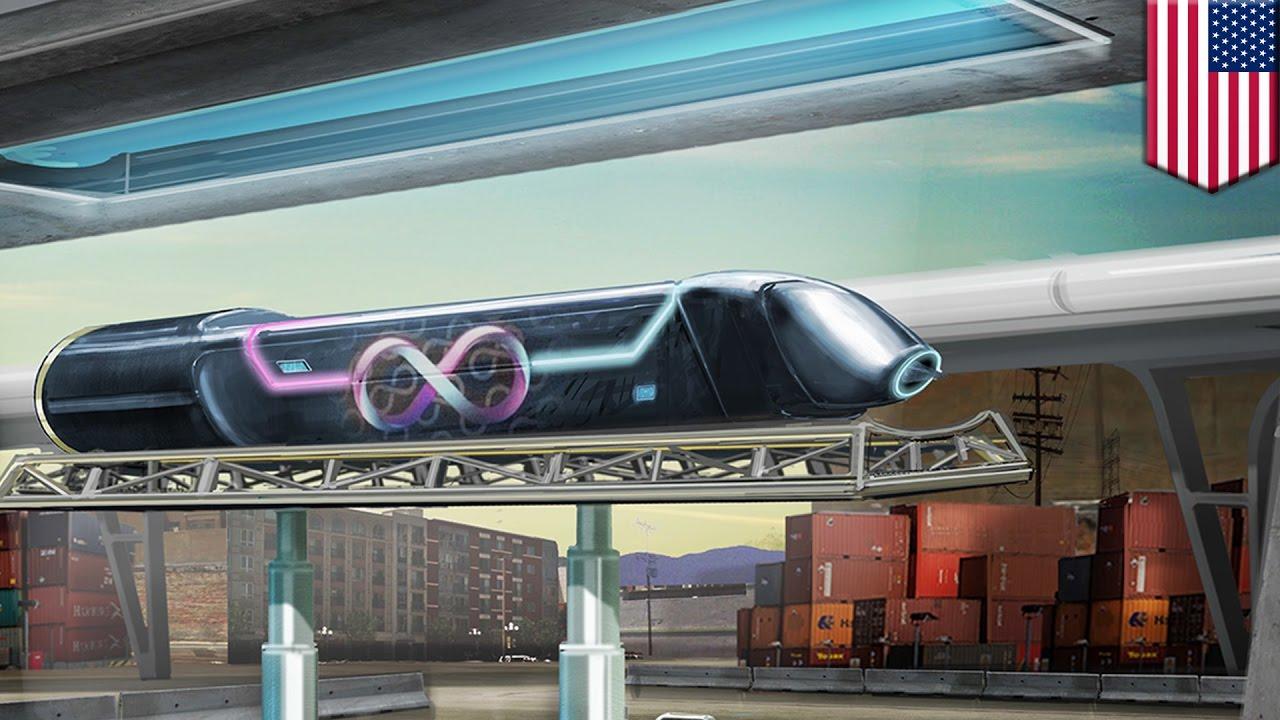 hyperloop one test worldu0027s first fullsize hyperloop test in las vegas tomonews youtube