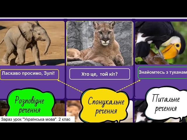 2 клас. Українська мова. Розповідні речення