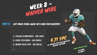 2019 Fantasy Football - Week 8 - Top Waiver Wire Targets