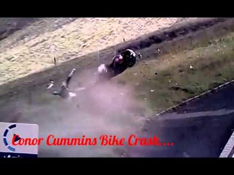 conor cummins bike crash youtube
