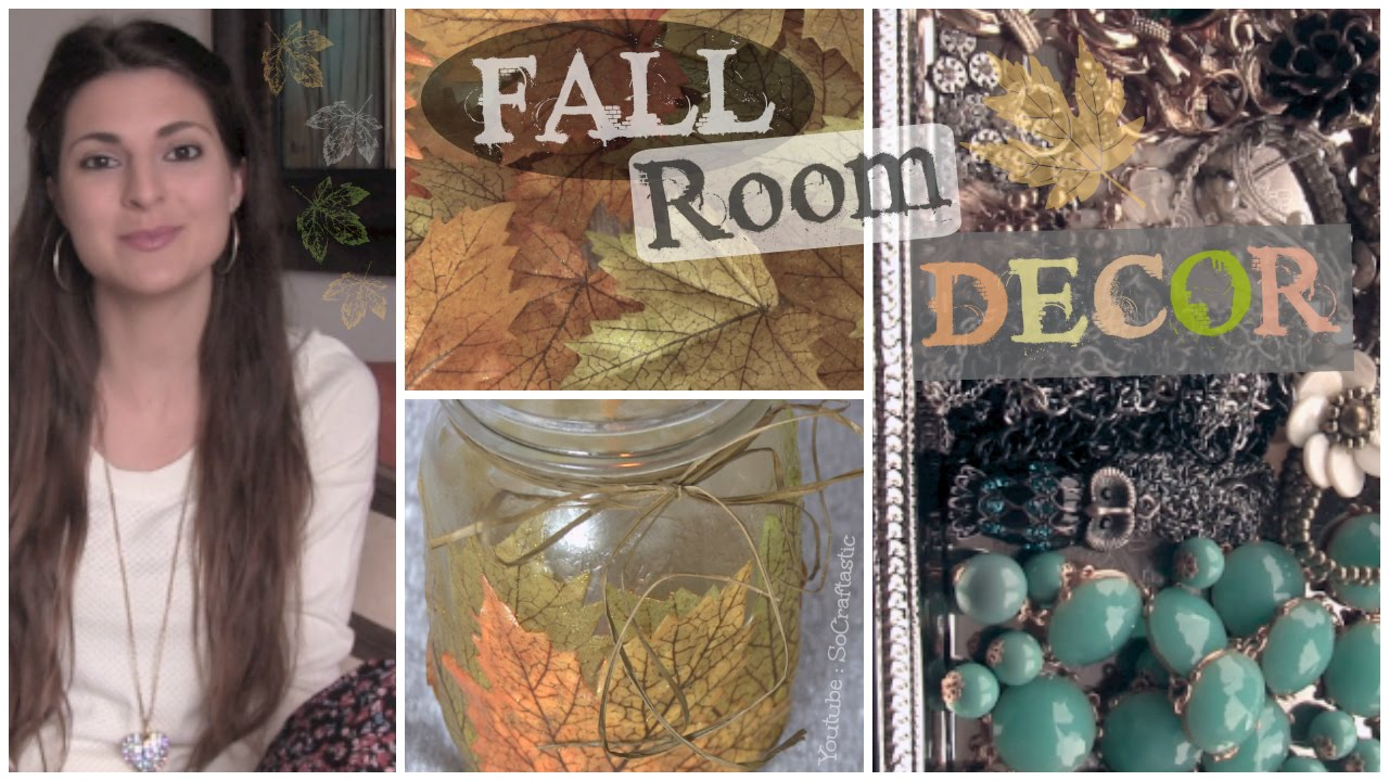Easy Fall Room Decor Diy Make Your Room Cozy For Cheap Socraftastic Youtube