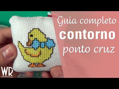Guia completo do CONTORNO no ponto cruz - Backstitch cross stitch