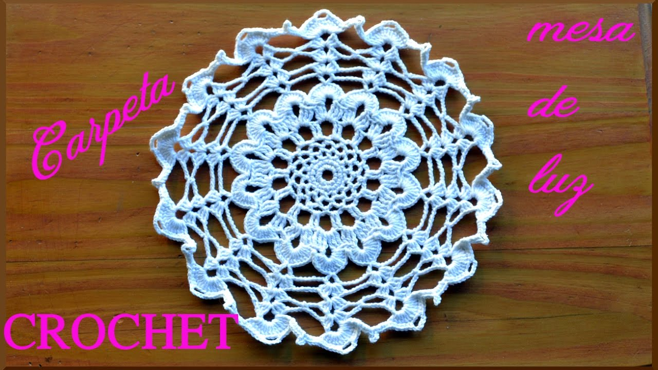 Carpeta a Crochet o ganchillo para Mesa de Luz tutorial paso a paso ...
