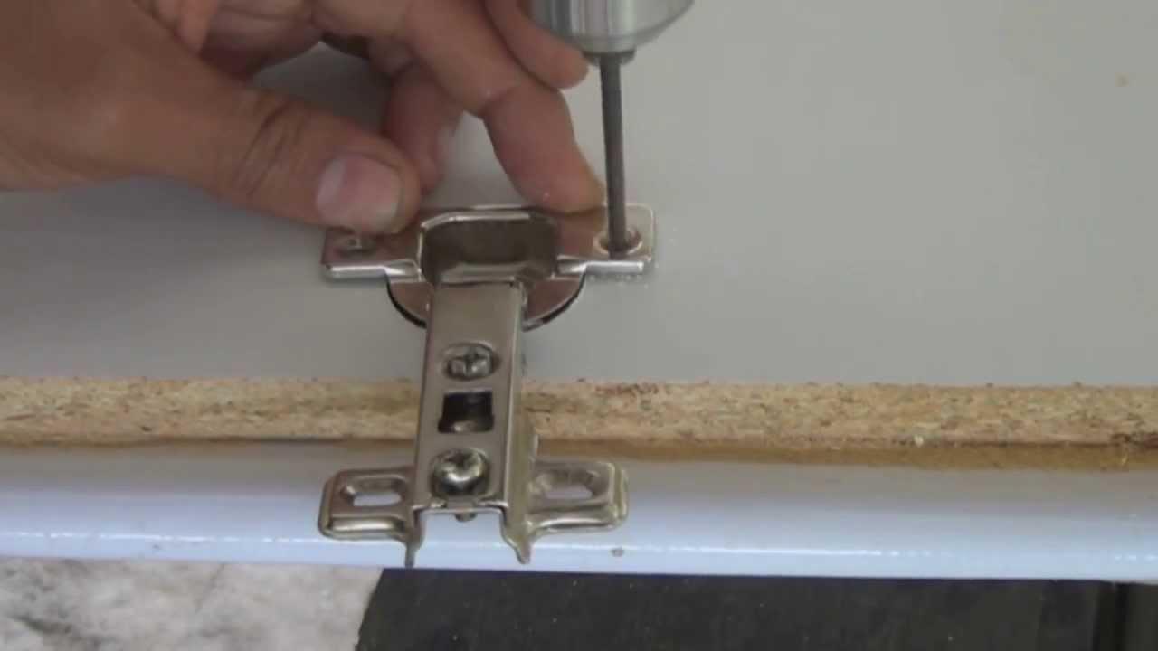 LOKENDO - como poner bisagras a puerta de madera (cazoleta ...