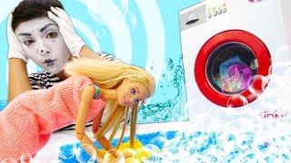Видео про куклы для девочек. Кукла Барби затопила соседей