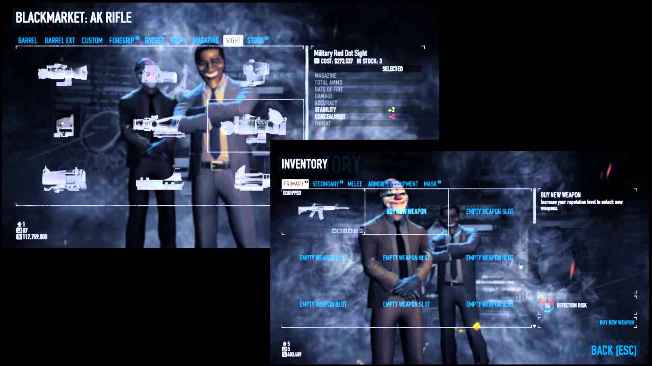 Payday 2 trading weapon blueprints youtube payday 2 trading weapon blueprints malvernweather Images