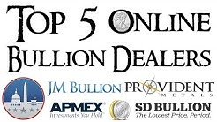 Top 5 Online Silver and Gold Bullion Dealers
