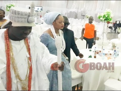 Ooni Of Ife and his new Olori, Prophetess Naomi Step Out As Husband And Wife For The 1st Time