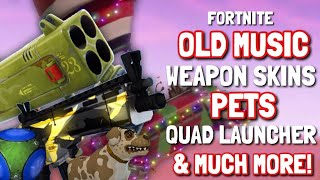 FORTNITE *OLD MUSIC*, WEAPONS SKINS, PETS, HIGH EXPLOSIVES V3,BATTLE BUS/GOLF KART SKINS (too much)