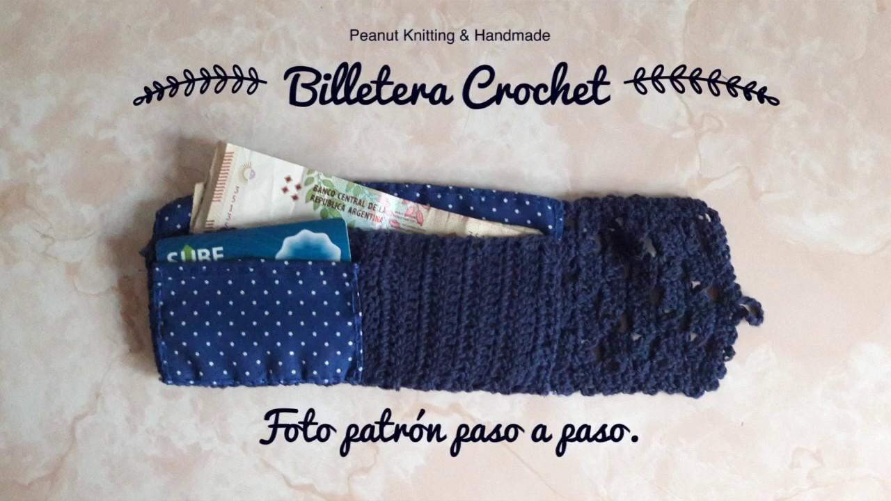 Patron Billetera Crochet - YouTube